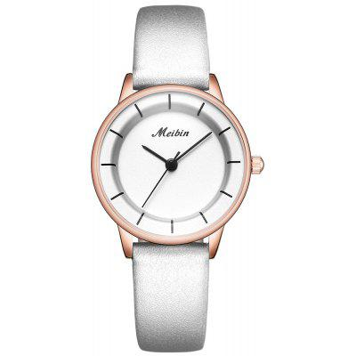 MEIBIN M1078 Ladies Quartz Assista Waterproof Estilo Simples Belt
