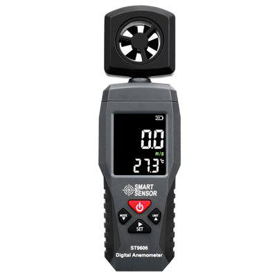 SMART SENSOR ST9606 Digitales Portable LCD Anemometer Thermometer