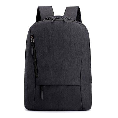 Men's Backpack Solid Color Business Casual 15.6-inch Laptop Bag