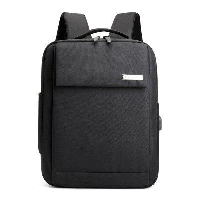 Men's Backpack Solid Color Large Capacity Business Casual 15.6-inch Laptop Bag