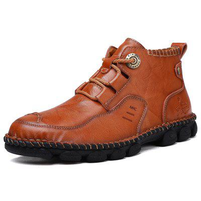 AILADUN Men's Shoes Hand Stitching Casual Large Size