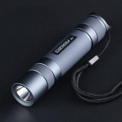 Gearbest Convoy S2+ SST40 High Power 1800lm Flashlight - Gray 5000K / 1800lm / Temperature Protection Management / Waterproof / with Copper DTP Board Ar-coated Inside