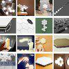 Touch Control Wall Light Hexagon Honeycomb Induction Lamp - WHITE