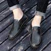 Men's Casual Shoes Hand Stitching Cross-section Leather Large Size - BLACK