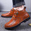 AILADUN Men's Shoes Hand Stitching Casual Large Size - BROWN