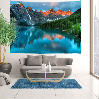 Clear Lake Light Mountain Color Impressão Digital Tapestry Fundo Decorativo