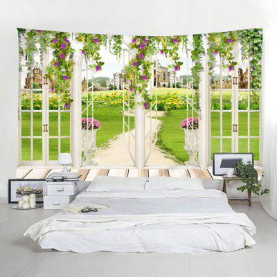 Binnenmuur Window Grass Printing Tapestry