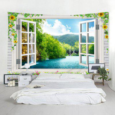 Indoor Wall Decoration Window River Printing Tapestry