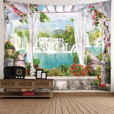 Indoor Wall Decoration Mountain and River Pattern Polyester Printing Tapestry