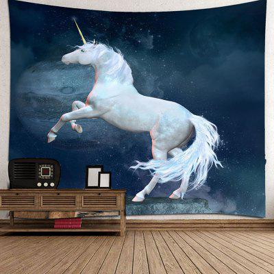 Zasnená plachta Unicorn Indoor Wall Decoration Polyester Printed Tapestry