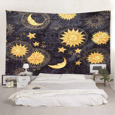 Indoor Wall Planet Moon Printing Tapestry