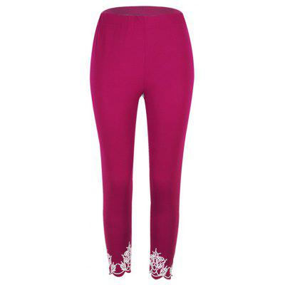 Women's Tight-fitting Slim Printed Cropped Trousers