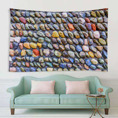 Neatly Arranged Colorful Cobblestone Pattern Print Tapestry