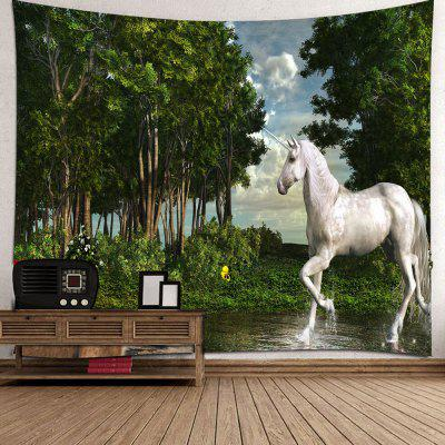 Forest Unicorn patroon print tapijt
