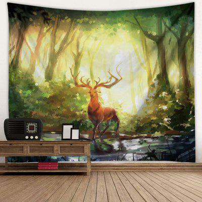 Forest Deer European Landscape Tapestry Wall Decoration Background Covering