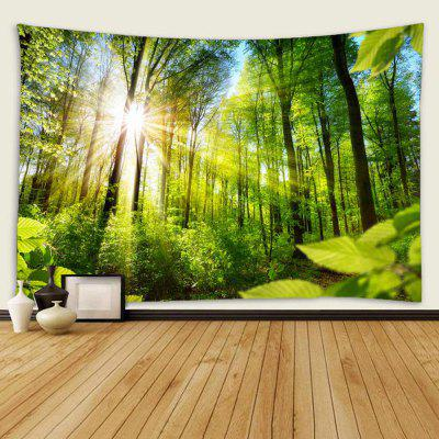 Indoor Wall Decoration Polyester Forest Sunshine Pattern Printing Tapestry