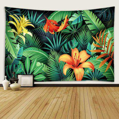 Indoor Wall Decoration Flower Pattern Polyester Printing Tapestry