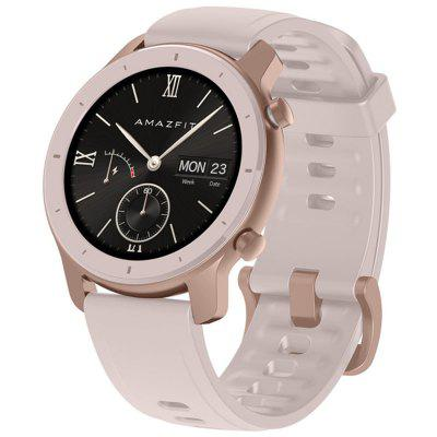 AMAZFIT GTR 42mm Smart Watch 12 Days Battery Life 5ATM Waterproof Global Version ( Xiaomi Ecosystem Product ) - 42mm Aluminum Alloy Case Sakura Pink