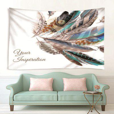 Indoor Wall Feather Pattern Printing Tapestry