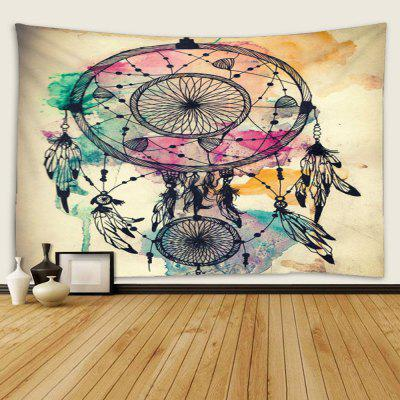 Indoor Wall Decoration Feathers Pendant Pattern Polyester Printing Tapestry