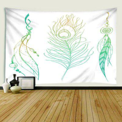 Indoor Wall Leaf Plant Printing Tapestry