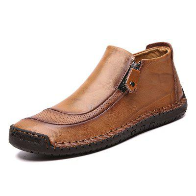 Men Leather Shoes Large Size Breathable Boots