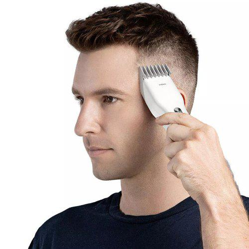Gearbest ENCHEN USB Fast Charging Electric Hair Clipper from Xiaomi youpin - White Two Speed ​​Ceramic Cutter