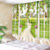 Indoor Wall Window Grass Printing Tapestry - MULTI-A