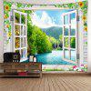 Indoor Wall Decoration Window River Printing Tapestry - MULTI-A
