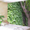 Indoor Wall Green Leaf Decoration Printing Tapestry - MULTI-A