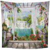 Indoor Wall Decoration Mountain and River Pattern Polyester Printing Tapestry - MULTI-A