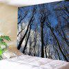Indoor Wall Decoration Sky Branches Printing Tapestry - MULTI-A