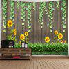 Indoor Wall Panel Sunflower Printing Tapestry - MULTI-A