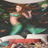Mermaid Pattern Print Indoor Wall Decoration Tapestry - MULTI-A