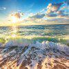 Beach Landscape Wave Prints Indoor Wall Decoration Tapestry - MULTI-A