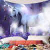 Dromerige Unicorn Elf patroon interieur wanddecoratie wandtapijt - MULTI-A