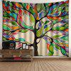 Indoor Wall Decoration Branches Petal Printing Tapestry - MULTI-A