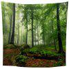 Indoor Wall Decoration Green Forest Pattern Polyester Printing Tapestry - MULTI-A