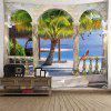 Indoor Wall Decoration Tropical Landscape Pattern Polyester Printing Tapestry - MULTI-A