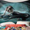Creative Dark Style Mermaid Pattern Print Indoor Wall Decoration Tapestry - MULTI-A