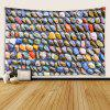 Neatly Arranged Colorful Cobblestone Pattern Print Tapestry - MULTI-A
