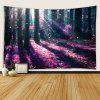 Fantasy Forest Pattern Print Indoor Wall Decoration Tapestry - MULTI-A