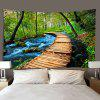 Forest Creek Small Road Pattern Print Tapestry - MULTI-A