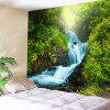 Indoor Wall Decoration Green Hills and Water Pattern Polyester Printing Tapestry - MULTI-A