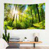 Indoor Wall Decoration Polyester Forest Sunshine Pattern Printing Tapestry - MULTI-A