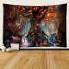 Indoor Wall Decoration Lighting Tree Pattern Polyester Printing Tapestry - MULTI-A