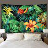 Indoor Wall Decoration Flower Pattern Polyester Printing Tapestry - MULTI-A