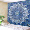 Indoor Wall Decoration Blue Flower Pattern Polyester Printing Tapestry - MULTI-A