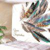 Indoor Wall Feather Pattern Printing Tapestry - MULTI-A