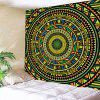 Indoor Wall Decoration Round Disk Pattern Polyester Printing Tapestry - MULTI-A